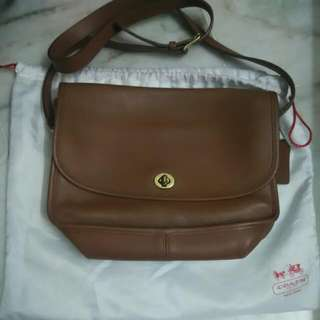 Authentic Coach Leather Sling Bag