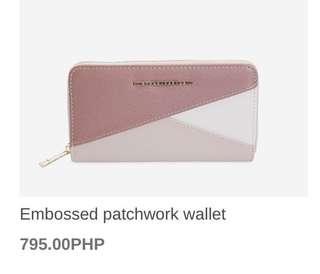 Stradivarius patchwork big wallet
