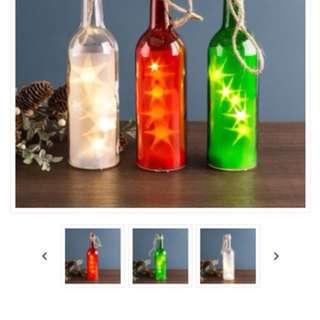 Decor bottles with twinkle lights 28 pieces good for your venue centre pieces