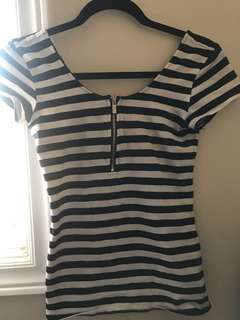 Guess Quarter Zipper Top