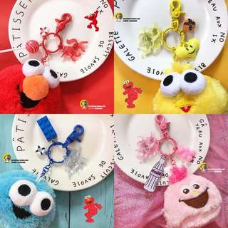 PO Sesame Street Fluffy Keychain