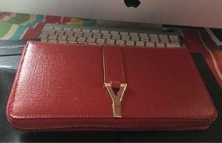 Ysl long wallet original quality with ykk zipper