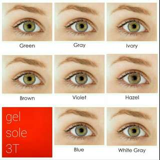 Gel sole T3 & T1 softlens