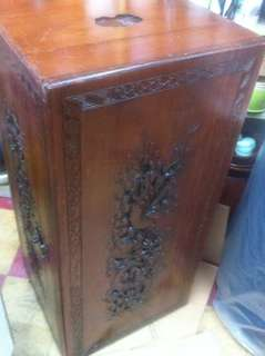六十年代龍鳳樟木櫃