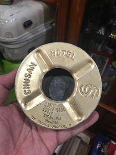 Ashtray Chusan Hotel (Behind sticker of Rudy Hartono)