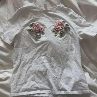 White Rose-Tit Shirt