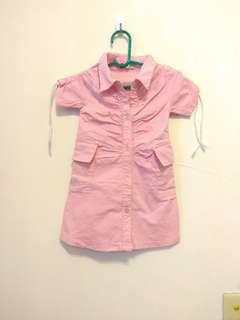 N&P女童牛仔彈力洋裝(5a) 港製
