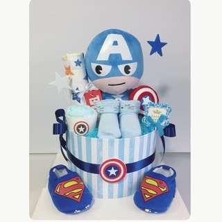Captain America Diaper cake
