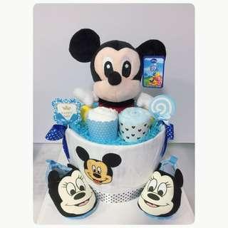 Mickey Diaper cake