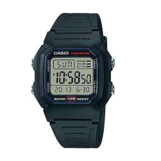 ⌚Casio W-800H-1A Unisex's Watch Black Strap⌚
