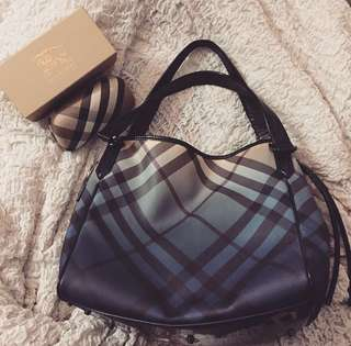 Burberry Gradient Check Shopper Bag