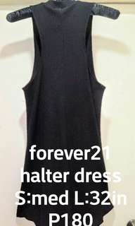 Forever 21 black knit halter type dress