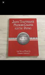 John Thomson Modern Course For The Piano