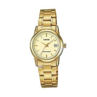 ⌚Casio LTP- V002G-9A Women's Watch Gold Strap⌚