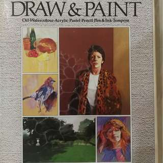 how to Draw & Paint  oil watercolour arcylic pastel pencil ibk