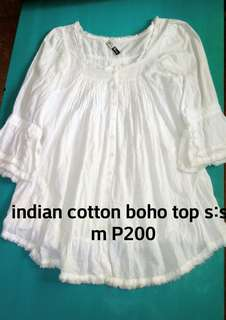 Indian cotton boho top