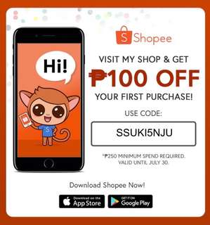 Get 100 off win you shop at shopee