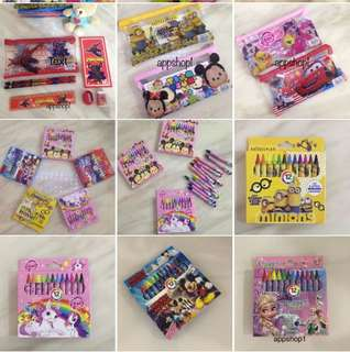 Stationary set / Crayon - goody bag, goodie bag gift, goodies bag packages for children party 🎉