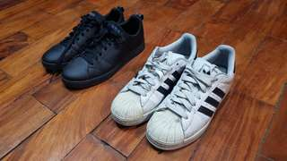 Adidas Superstar and Advantage Clean