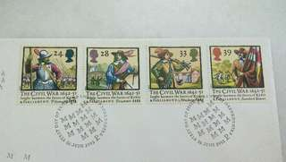 Great Britain UK England The Civil War Stamps & Special Postmark #2