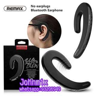 REMAX RB-T20 耳骨傳導 藍牙耳機 無痛藍牙耳機 無線迷你掛耳式 車載免提 Ultrathin Earhook Unilateral Bluetooth Earphone Headphone With Mic to talk