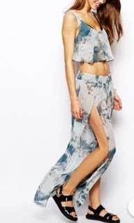 ASOS tie dye wide leg beach pants. Brand new