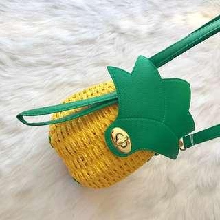 pineapple rattan bag