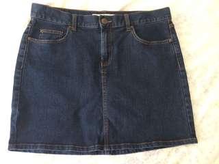 Ladies size 14 denim skirt as new
