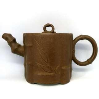 紫泥 竹節壺 Yixing Zisha Teapot