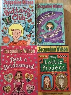 Jacqueline Wilson books like new