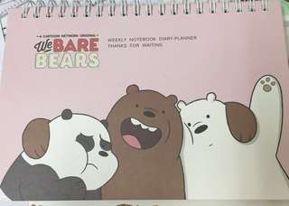 [Instock] [WBB] We bare bear weekly notebook diary planner