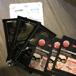 Mumuso & Yoyoso eye and face mask bundle