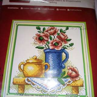 Paten cross stitch +  benang