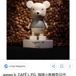 Agnes b. 木製手造小熊公仔絕版+送2011年特刊