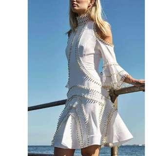 Thurley Zodiac Dress in Ivory - size 8
