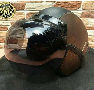 Helm Retro Bogo Kulit Murah