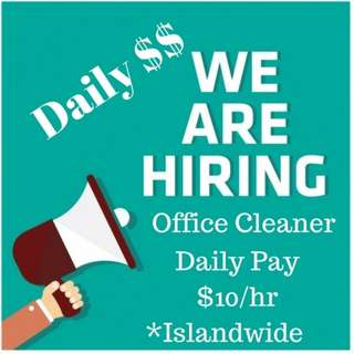 Daily Pay Office Cleaning (Islandwide)