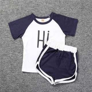 Instock - 2pc hi bye set, baby infant toddler girl hot children cute sweet 123456789 lalalala