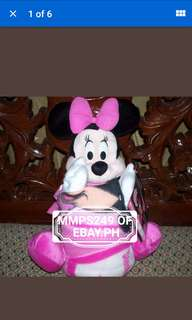 MINNIE MOUSE THROW BLANKET AND STUFF TOY FROM USA
