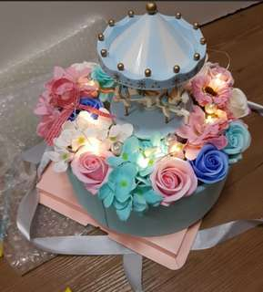 SALES from now till end MAY!! Flower Bouquet, merry go round music box for SALES !!!!!