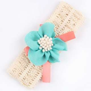Last piece - crochet headband, baby infant toddler girl children cure glad 123456789 lalalala