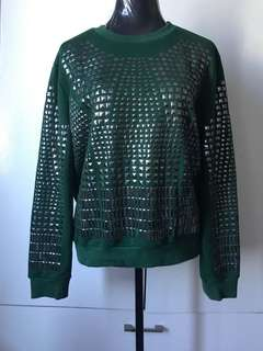 Green Rock Studded Pullover