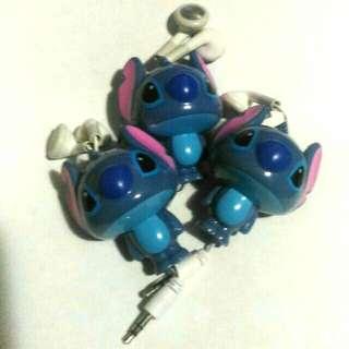 🚚 3入 史迪奇造型 伸縮耳塞式耳機