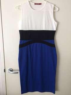 Ladies brand new size 12-14 dress white black blue