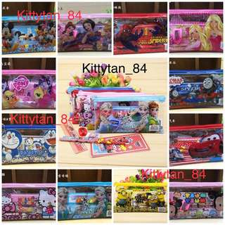Goodie bag / Princess / Tsum Tsum / Minion / Frozen / Spider-Man / Hello Kitty / Pony / Mickey / Barbie / Carz ($1 for 30 sets and above)