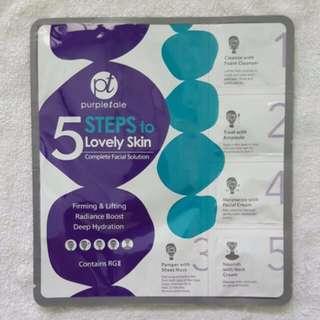 Purpletale 5 Steps to Lovely Skin Complete Facial Solution    laneige innisfree