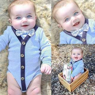 Instock - charming romper, baby infant toddler girl boy children cute glad 123456789 lalalala