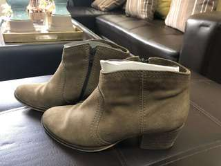 Repriced‼️Mango Suede Leather Boots