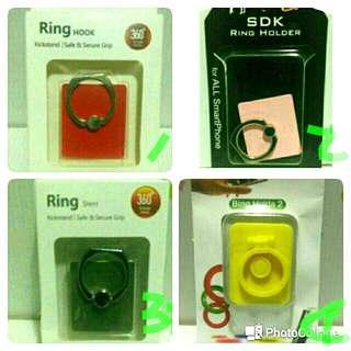 🚚 4入 手機指環扣-紅,銀,粉,黃(單買$20)