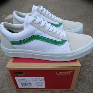 VANS OLD SKOOL WHITE/GREEN